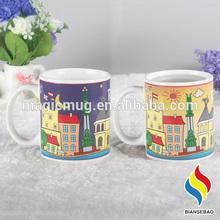 Custom Hot Water Color Changing Mug, Color Changing Mug, Changing Color Mug