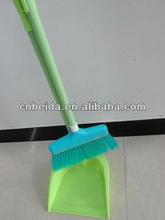 Metal Long Handle Broom With Dustpan Set For Cleaning House/Indoor/Outdoor, Durable And Strong