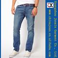 新しい到着の男性デニムジーンズのファッションスリムフィット男性のイェンスjxl21036ブルージーンズ
