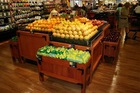 euro solid wood fruit and vegetable retail display table