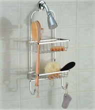 wrought iron metal wire bathroom hanging shower rack bathroom rack with suction cup