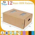 brun recyclé pp boîte en carton pour les fruits et légumes