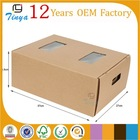 Brown recycled pp cardboard box for fruit and vegetable