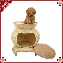 S&D handmade waterpooft durable rattan pet bed dog
