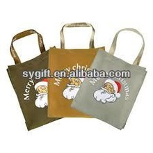 100% recycled cheap stock fine canvas shopping bags