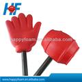 Espuma de pu mão stress ball, promoção de eventos desportivos ou fã do presente torcendo mão