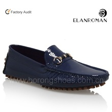 Patent leather men loafer shoes