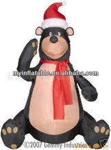 inflatable black giant sitting polar bear giant