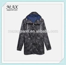 Camouflage Lightweight Windbreaker mens jacket polyester Center front zipper with button placket men windbreaker jacket