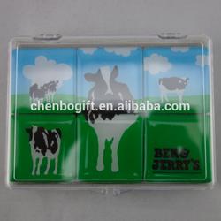 Custom your design magnetic epoxy fridge magnet / epoxy resin magnet set