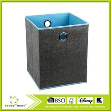 High Quality Solid Grey Felt Basket