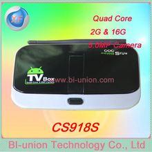 Upgrade CS918S Quad Core Set Top Box Andriod 4.2 OS AllWinner A31 Quad Core 2GB RAM 16GB Flash 5.0MP Camera Bluetooth RJ45 WIFI