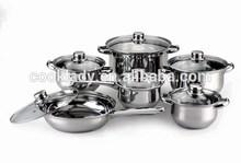 12pcs stainless steel cookware set,happy baron,supplier for BEKKER