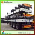 El precio de fábrica 60 toneladas tri- ejes 40 ft de remolque de plataforma de contenedores con cerradura de la torcedura