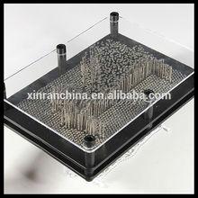 6*8'' 3D Metal Pin Art/Pin art impression toy/Desk decoration