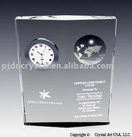 Crystal Globe Clock