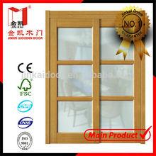 2014 hot sale interior wooden glass sliding doors