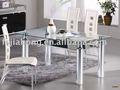 3100a#エレガントなデザインのガラスのダイニングテーブルセット