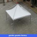 gazebo jardin 3mx3m en blanc avec structure de la preuve du vent