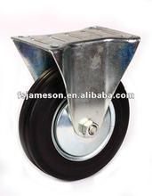 industrial rubber casters castors wheel fixed