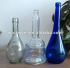 Long neck glass vodka bottle