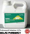 Anticoccidial drogas Toltrazuril solución 2.5% Coccidiostatic