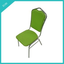 lime green PVC leather green dining chair