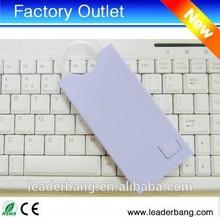 Ultra-thin Color ring shine 4000mAh pocket power bank for all phones portable power bank