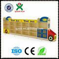 ônibus de madeira brinquedo das crianças kids armário armário de brinquedos qx-b7502