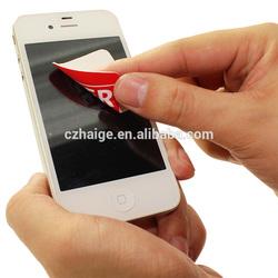 2015 new design adhesive microfiber screen cleaner