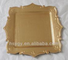 Square decorative plastic plate