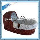 High quality handmade wicker baby cribs