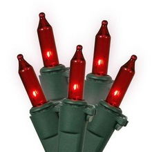 Red Bulb 5M Incandescent Christmas String Lights