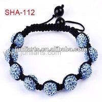 Best-sale of light blue shamballa beads bracelets,shambala jewels charm