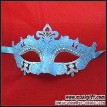 Top Design Wholesale Diamond Masquerade Mask Light Blue Plastic Party Masks