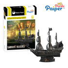 Black pearl pirate puzzle 3d paper model ships