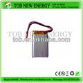 Li- polímero de la batería con 3.7v 400 mah/3.7v recargar paquetedebaterías para bluetooth