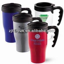 16oz 2012 best popular double wall plastic coffee mug