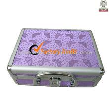 Aluminum case 2012 Hot Selling aluminium jewelry box with Mirror