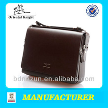 high quality new design men briefcase leather bags factory