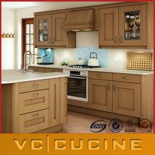 Estilo shaker pvc carvalho móveis de madeira da cozinha