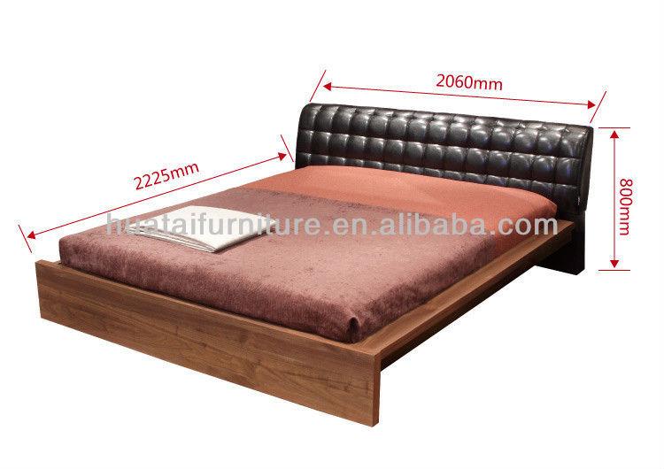 Lit Double Classique En Bois : mode lit King meubles moderne Simple et exquis bois massif lit Double
