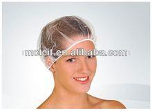 white/black disposable nylon hair net/nylon net cap