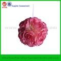 """6"""" rosa artificial bola colgante flor de la boda"""