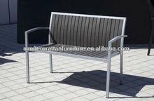 Foshan factory outdoor indoor wpc furniture---wholesale garden park beach wpc double benches