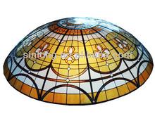 lujosa gasa de estilo domo de vidrio teñido para techo
