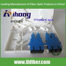 New Products FTTH mini terminal box 4 core 2pcs SC Duplex adapter