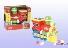 B/O Music Brick Train, Funny Educational Baby Toys