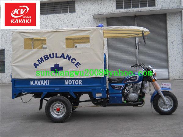 (KAVAKI MOTOR Life-saving 3 wheel motorcycle,safe&Speed&comfortable=Life-saving) export to Africa 175CC ambulance tricycle