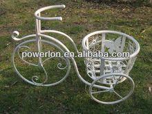 Metal elegant bicycle plant stand